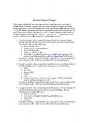 climate change worksheets. Black Bedroom Furniture Sets. Home Design Ideas