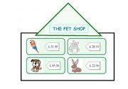 English Worksheets: THE PET SHOP