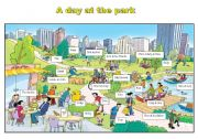 English Worksheet: park flashcard