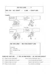 English Worksheets: LIKE