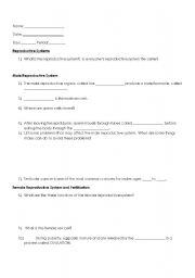 English Worksheets: Reproduction