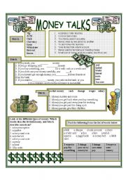 English Worksheet: MONEY TALKS