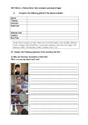 English Worksheets: WITNESS- a film study (student worksheet) Page1