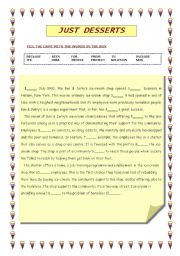 English worksheet: Reading comprehension+gap filling