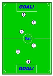 English Worksheet: Football/Soccer Board Game - Grammar and Vocabulary Review(1/6)