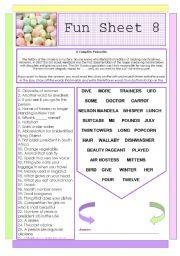 English Worksheets: Fun Sheet 8
