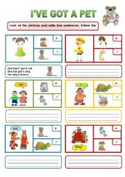 English Worksheets: HAVE GOT AND PETS