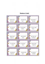 Introduction business card game esl worksheet by crazyturtle english worksheet introduction business card game colourmoves