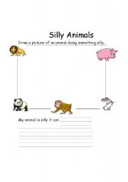 English Worksheets: Silly Animals