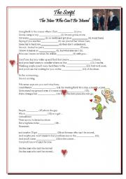 English Worksheets: Valentine´s Day activity - Song by The Script