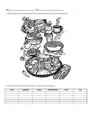 Healthy meal - New Food Pyramid