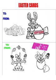 English Worksheet: EASTER CARDS