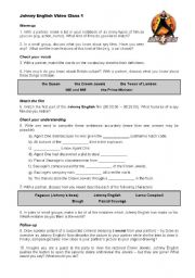 English Worksheets: Johnny English Video Class Worksheet 1 of 3