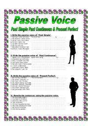 Passive Voice - Past Simple, Past Continuous, Present Perfect - ESL