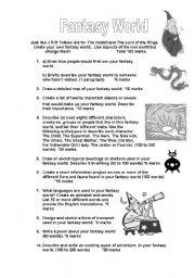 English Worksheets: Fantasy World