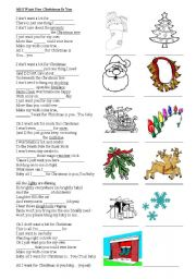 English teaching worksheets: All I Want for Christmas