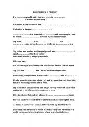 Descriptive Essay Examples About a Person