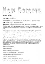 English Worksheet: Mew Careers