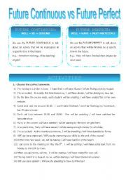 English teaching worksheets: Future perfect continuous