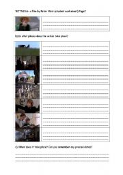English Worksheets: witness- a film study (student worksheet) page2