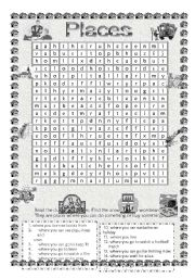 Places Wordsearch
