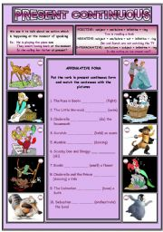 PRESENT CONTINUOUS (2 pages)