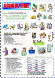 English Worksheets: SCHOOL TIME