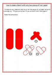 English Worksheets: How to make a heart