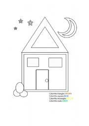 english worksheets shape house. Black Bedroom Furniture Sets. Home Design Ideas