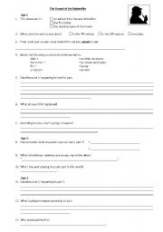 English worksheet: The Hound of the Baskervilles trailer