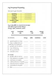 English worksheet: Language biography