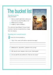 bucket list movie, 4 skills activities + language if clauses (4 pages and key)