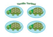 English Worksheets: Turtle Cards (Add your own text) Use them with my turtle gameboard.