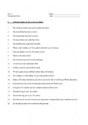 English teaching worksheets: Apostrophes
