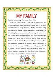 My family reading