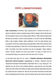 English Worksheets: Pippi Longstockings