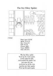 English Worksheets: Itsy bitsy spider