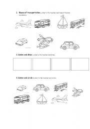 means of transportation worksheet by yorleny jimenez quiros. Black Bedroom Furniture Sets. Home Design Ideas