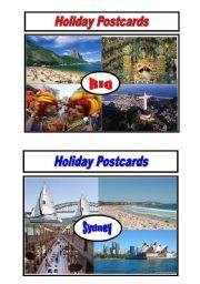 English Worksheet: Holiday Postcards Pair Work 5/5