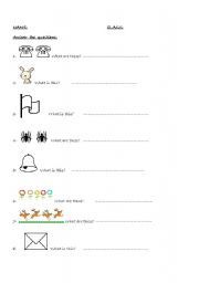 English Worksheets: what are thse?