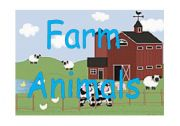 English Worksheet: FARM ANIMALS FLASHCARDS