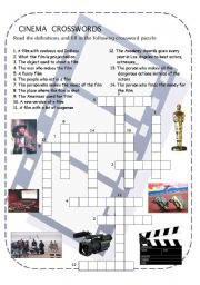 Cinema crossword