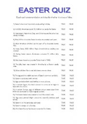 picture regarding Easter Trivia Printable identified as Easter quiz - ESL worksheet as a result of maralves