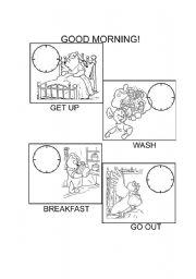 English worksheet: My morning