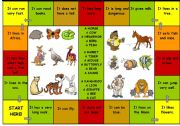 English Worksheets: Game What Animal is It