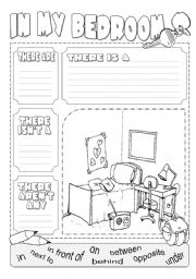 English Worksheet: In my bedroom there is ...