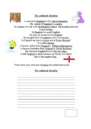 english worksheets my cultural identity. Black Bedroom Furniture Sets. Home Design Ideas