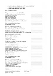 English Worksheet: I´m yours by Jason Mraz