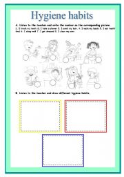 Worksheets Hygiene For Kids Worksheets english teaching worksheets hygiene habits