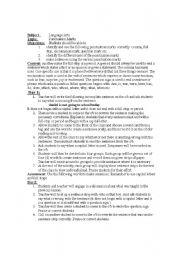 English Worksheet: Punctuation Marks Lesson